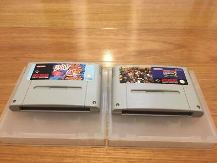 Donkey Kong Country 2 + Bubsy (SNES Games)