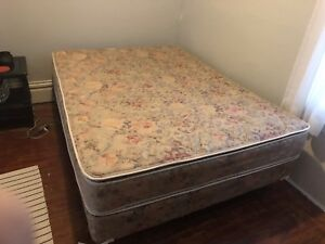 Double Bed (frame, box spring, mattress)