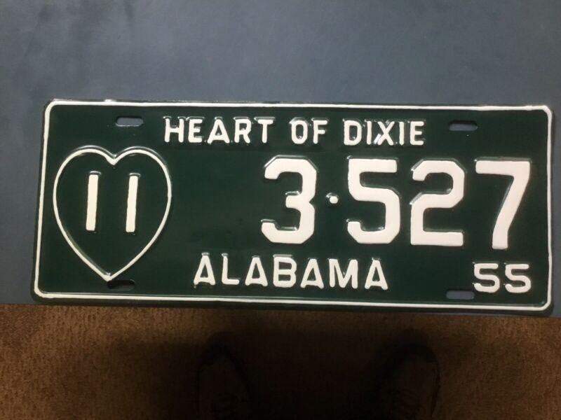 Alabama Car Tags 1955