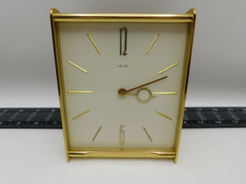 Vintage Mauthe German Art Deco Wind Up Desk Clock Working