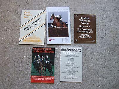 race card goodwood 30/7/83