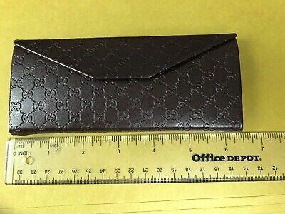 Gucci Glasses Branded Case Dark Brown Signature Brand New Mint Free (Gucci Glasses Case)
