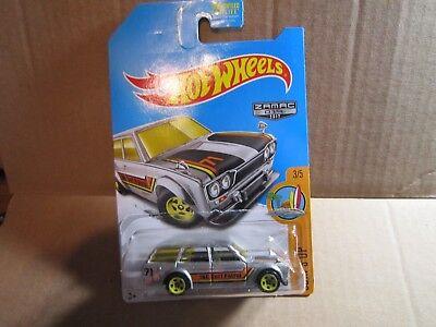 '71 Datsun Bluebird 510 Wagon * ZAMAC * 2017 Hot Wheels