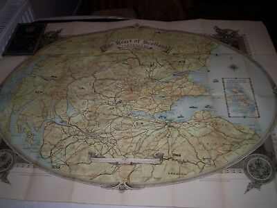 LMS Railway.Publicity Map for Gleneagles Hotel & Golf Course in Scotland. c1930