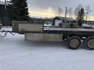 22ft deck over 14,000gvw great for farm and sleds/ATV