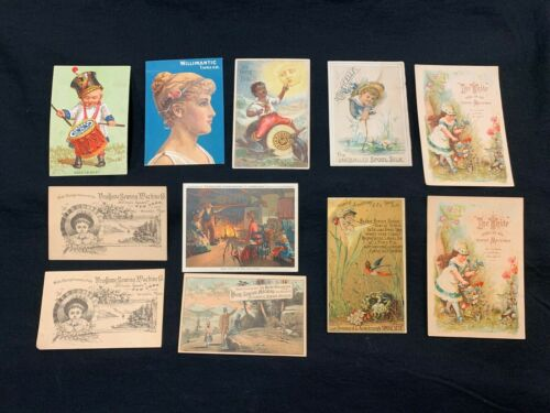 (11) Genuine 19th Century Sewing Machine/Spool Advertising Trade Cards