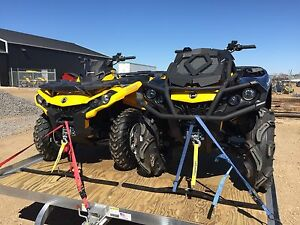 Can am atv and trailer combo