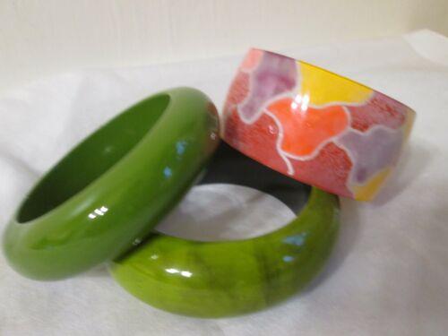 Vintage Plastic Lucite Acrylic Bangle Bracelet Lot