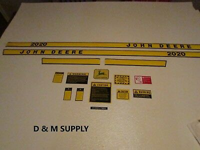 John Deere 2020 Decal Set With Caution Kit And Logo