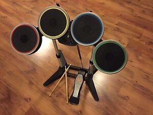 Wii Drum Set, Drums For Rock Band Game (WIRELESS)