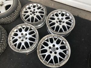 "4- 16"" 5X100 OEM BBS RX2 Wheels"