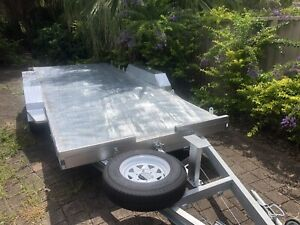 "New 3.5t Tilt Car Trailer 16'8""x6'6""W/Post S/Wheel Galvanised"