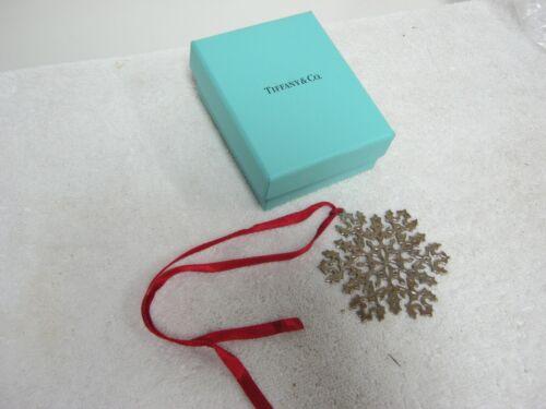 Tiffany & Co. Sterling Silver .925 Christmas Tree Ornament, Snow Flake 25987