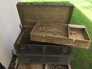 Authentic Old Steamer Trunk restoration project