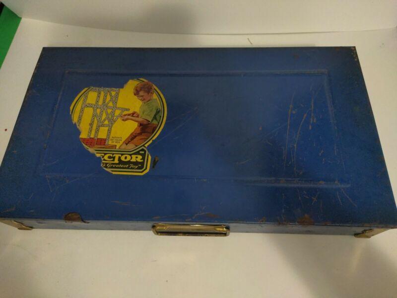 Vintage Erector Set With Metal Case