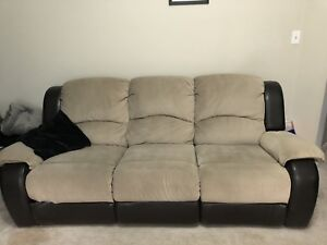3 piece L Shaped Sofa Set with 4 Recliners