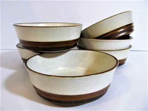 Denby POTTERS WHEEL Set 6 Salad Cereal Bowls Mid Century Stoneware Earthenware