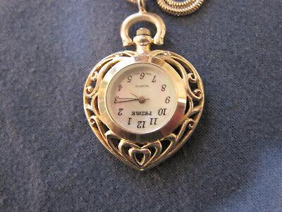 #132 ladys PEDRE sterling silver pendant quartz watch