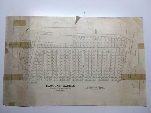 Antique Original 1915 Plan of Land at Rawson