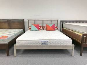 TODAY DELIVERY MODERN WOODEN queen bed & COMFORT mattress Belmont Belmont Area Preview
