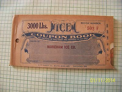 ICE COUPON BOOKS 1920'S with  free vintage 1961 color post card