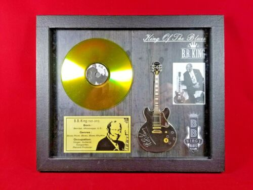B.B. King Miniature Guitar Tribute in Shadow Box with Golden CD SBCD BBK