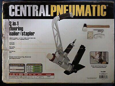 Central Pneumatic 2-in-1 Flooring Nailerstapler 70-90 Psi 0.9 Cfm 90 Psi