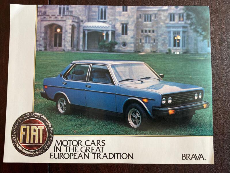 Fiat Brava Single Sheet Brochure Pack Of 50 Original Excellent Condition