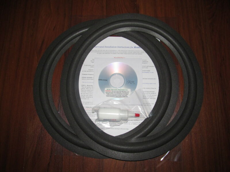 "Realistic Radio Shack Mach Two  15"" Foam Surround Speaker Woofer Repair Kit"