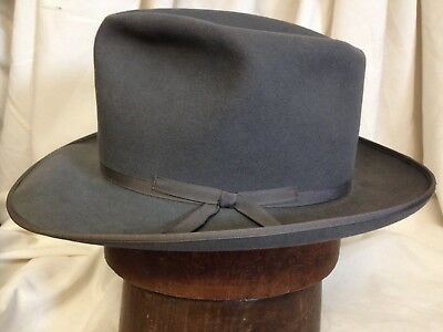 57955b32e19e5 Vintage 1960s Royal Stetson Stratoliner Mens Gray Fedora Hat -- Size 7