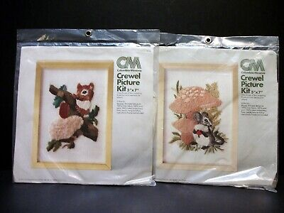 2 UNOPENED Columbia Minerva Crewel Kits 7825 7824 Mouse Squirrel Part of Series](Minerva Mouse)