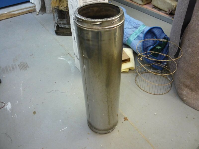 """Selkirk Stainless steel wood burning 8"""" pipe"""
