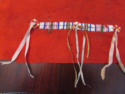 Antique Plains Indian Quilled & Beaded Shirt Decoration (19th century ? Sioux? )