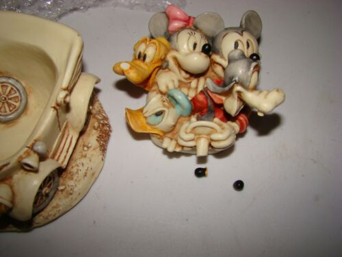 """DISNEY HARMONY KINGDOM """"FABULOUS FIVE OUT FOR A DRIVE"""" MADE IN ENGLAND in Box"""