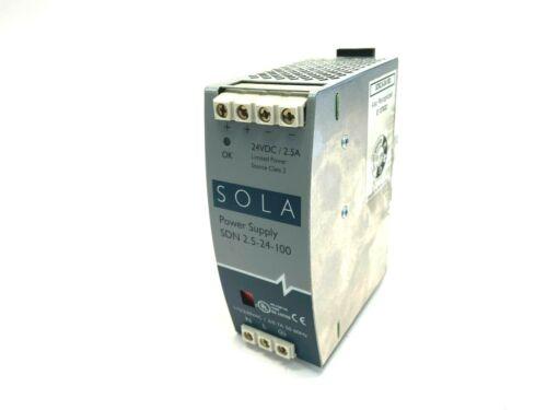 Sola SDN2.5-24-100 Power Supply 24VDC 2.5A
