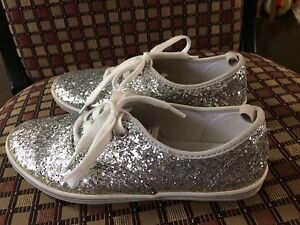 Girl's silver sparkle shoes size 2