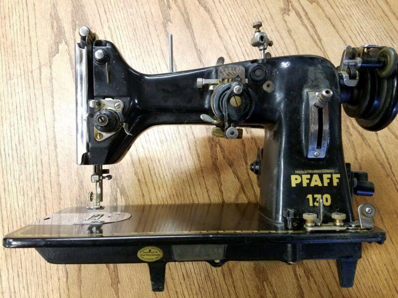 Pfaff 130 Sewing machine with Zig Zag. Great machine with motor, no pedal