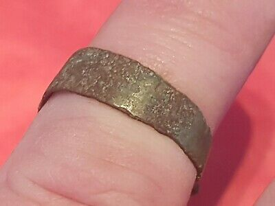 Very rare Viking warrior bronze coiled snake ring. Please read description. L59L