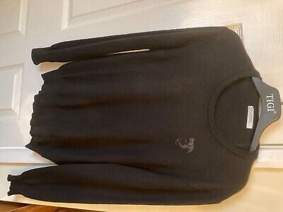 Versace Collection men's round neck black Jumper size XL Excellent Condition!