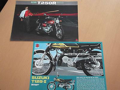 Suzuki T250R T125 Stinger II Sales Brochure Assortment.