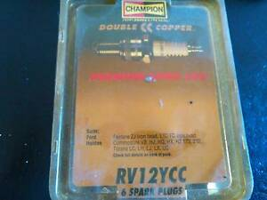 SPARK PLUGS CHAMPION RV12YCC PACK OF 6 Mernda Whittlesea Area Preview