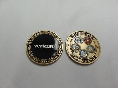 Challenge Coin Veterans Advisory Board Of Verizon Usmc Usaf Army Navy Uscg Milit
