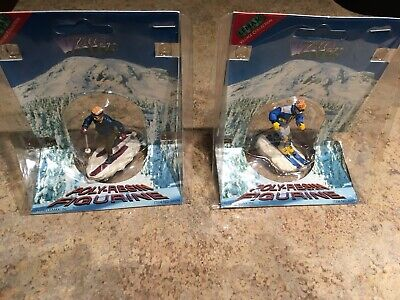 Lemax Skier Lot Of 2-Vail Village-Train-Holiday Accent - Lemax Vail Village