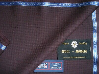 WOOL WORSTED & MOHAIR SUITING FABRIC - MADE IN ENGLAND – 2.0 m. for sale  Shipping to United States