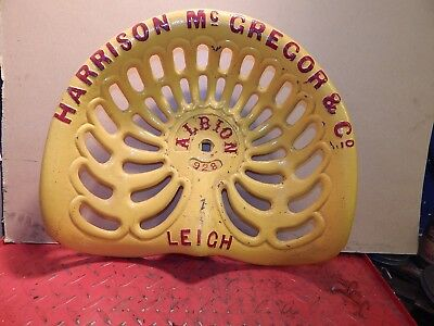 Albion Magreggor Vintage Cast Iron Tractor Implement Seat Farm Collectables