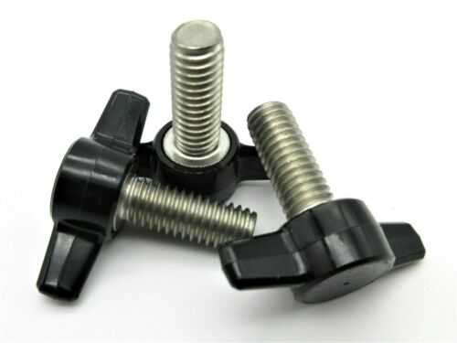 6mm Metric Thumb Screws w Wing Knob Delrin Head Various Lengths & Pack Sizes