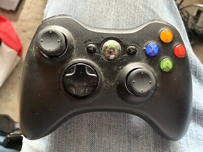 Xbox 360 Black Wireless Controller Genuine Microsoft