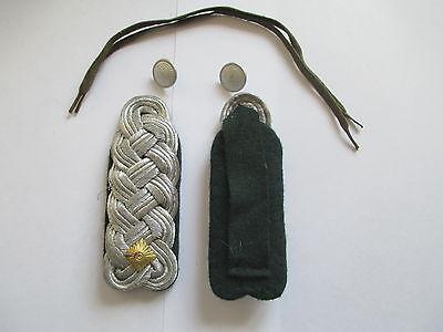 NVA 1 paar Schulterstücke Major  Rückwärtiger Dienst  dunkelgrün