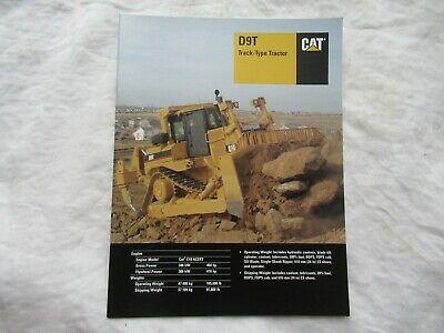 2004 Cat Caterpillar D9t Track-type Tractor Brochure