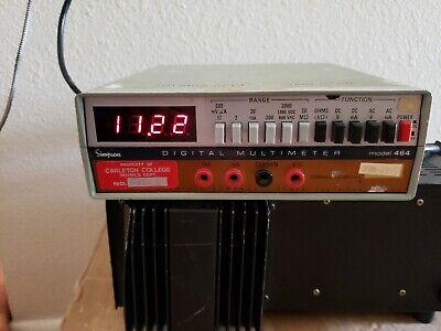 Simpson Electric Digital Multi-meter Model 464 Power Chord Not Included.